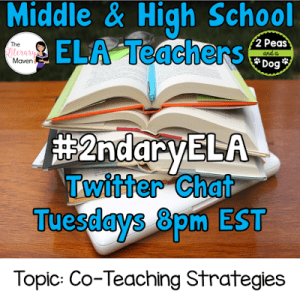 #2ndaryELA Twitter Chat on Tuesday 11/28 Topic: Co-Teaching Strategies