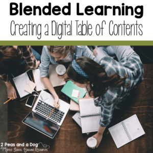 How To Create An Online Table of Contents For Blended Learning