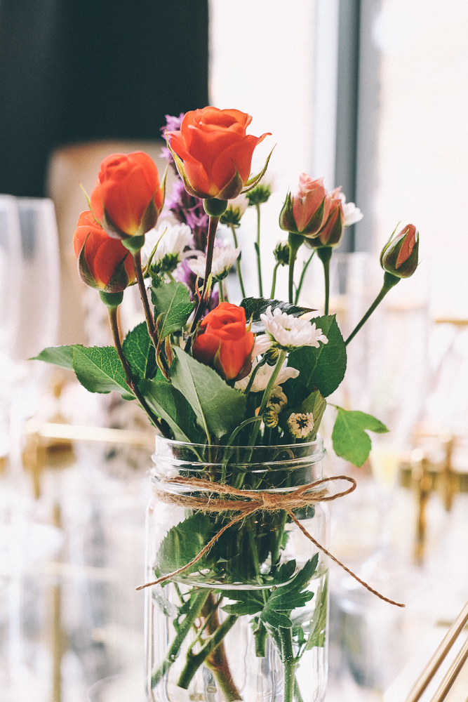 Diy Mini Mason Jar Bouquet Two Penny Blue Blog