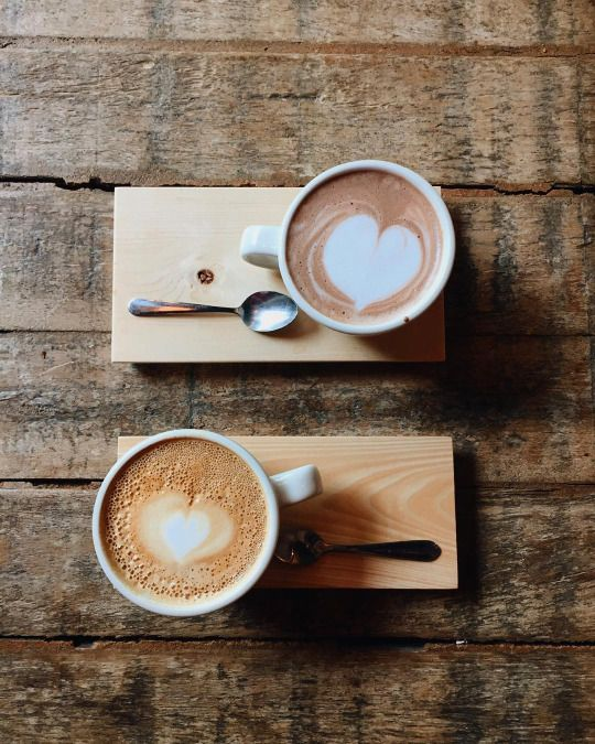 coffee latte hearts