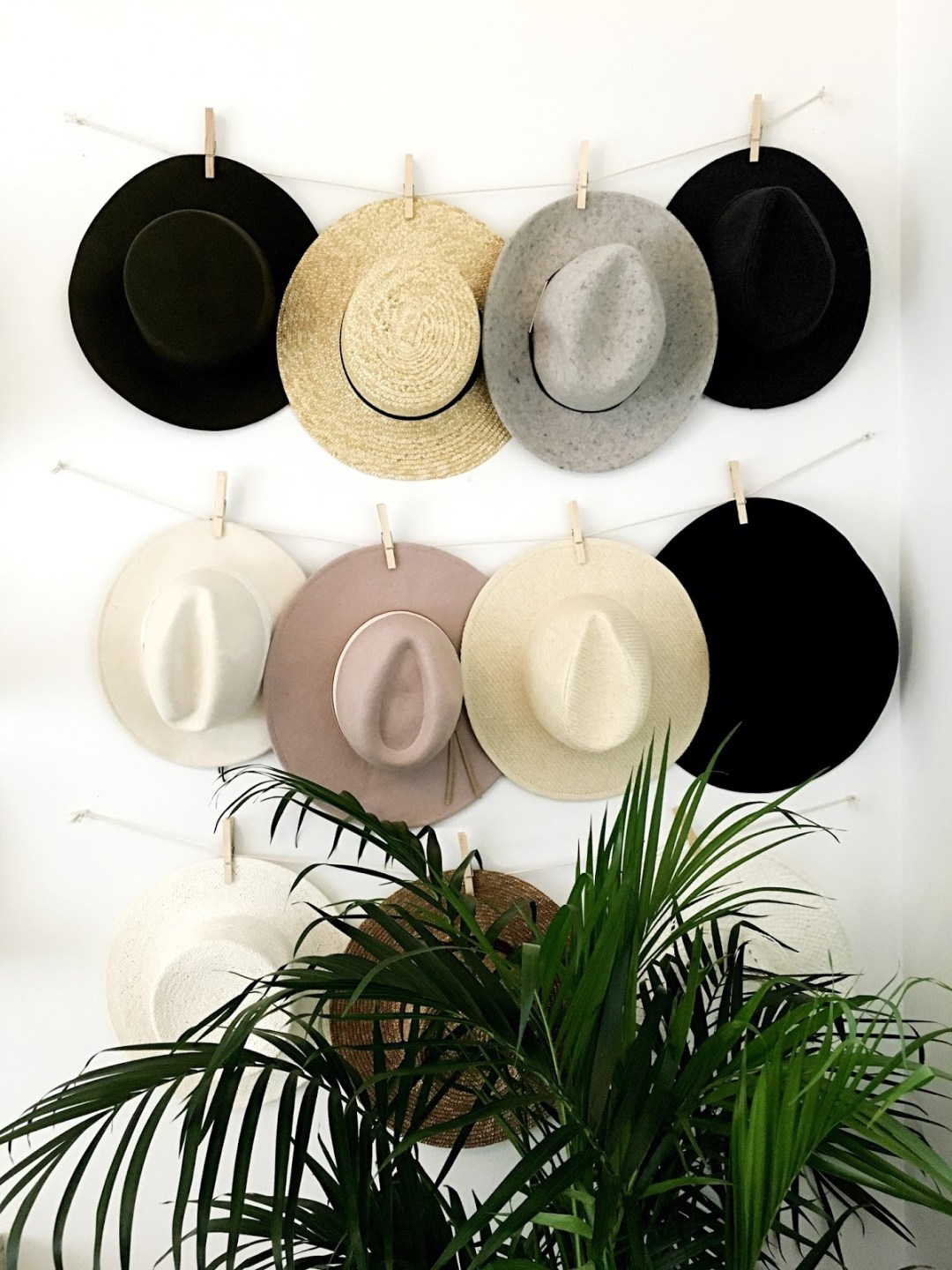 wide brimmed hats storage