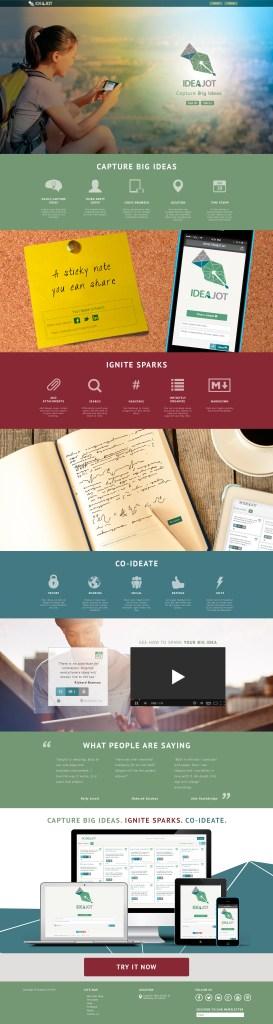 IdeaJot Landing Page
