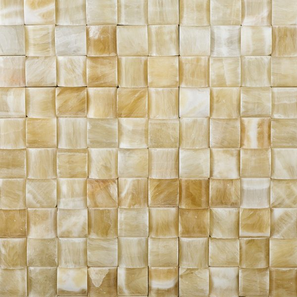 Honey Onyx - 3d Smal Bread Mosaic Tile Stone