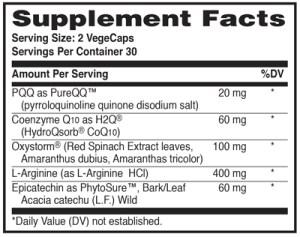 Cellurex supplement facts
