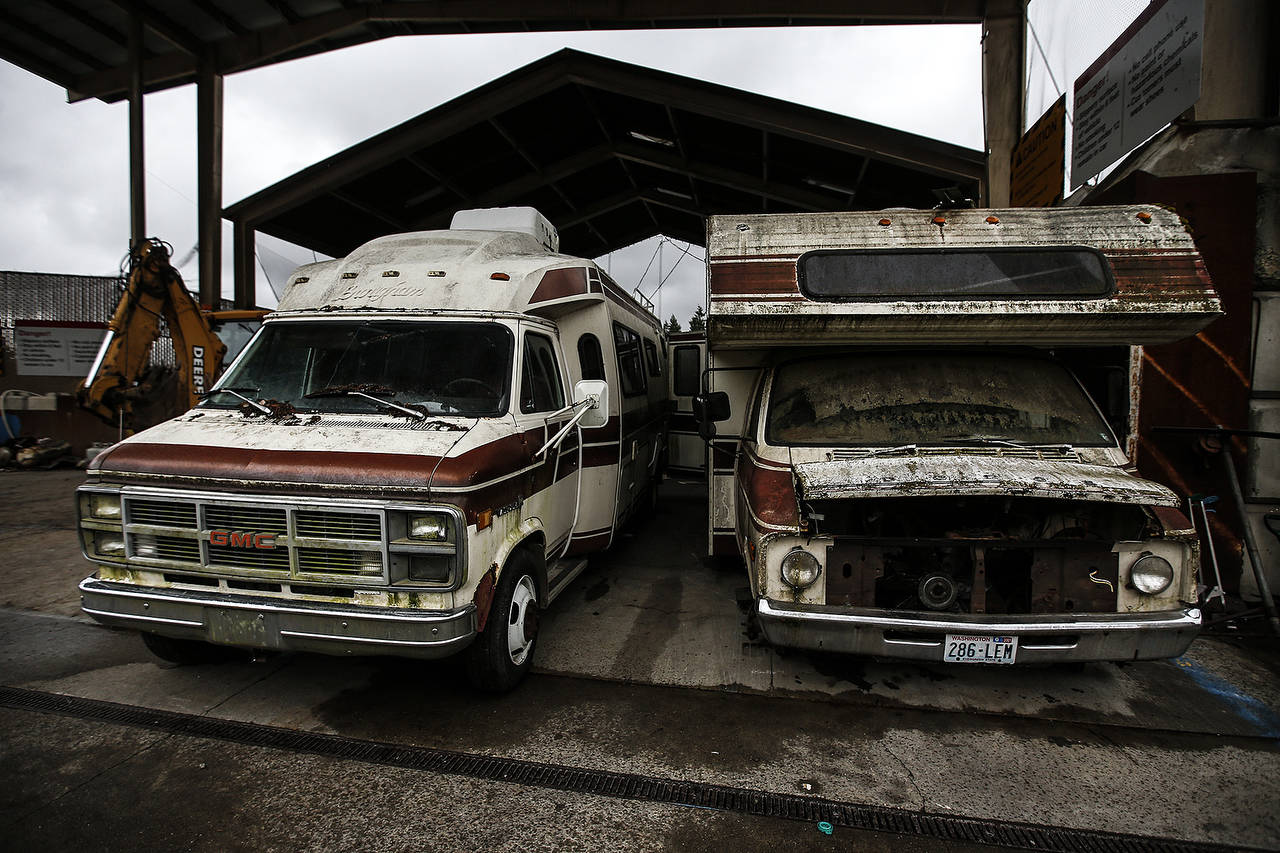 hight resolution of old campers await demolition ian terry the herald