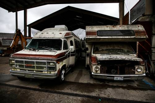 small resolution of old campers await demolition ian terry the herald