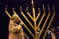 Chabad Jewish Center hosts menorah lighting to celebrate ...