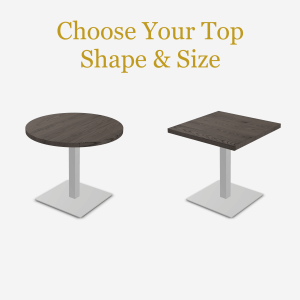 cafe table with square base
