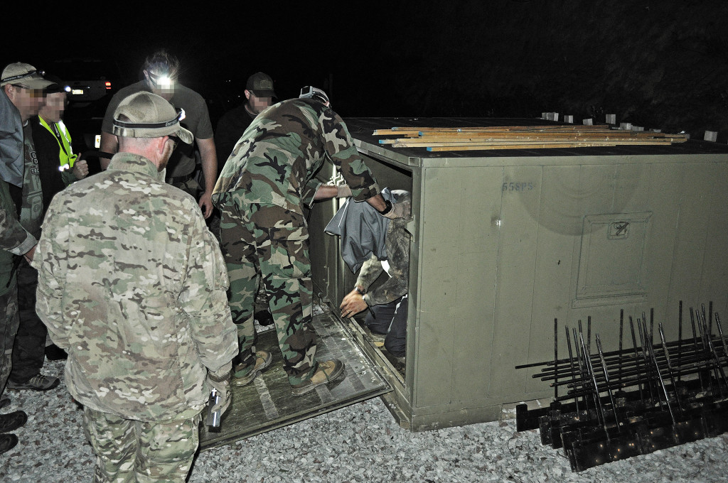 Not for the faint of heat: Sudents at 88 Tactical's SERE class get to experience what it's like to get captured and detained.