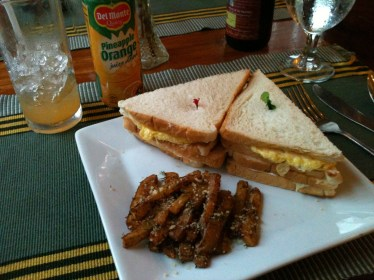 Club Sandwich with Fries