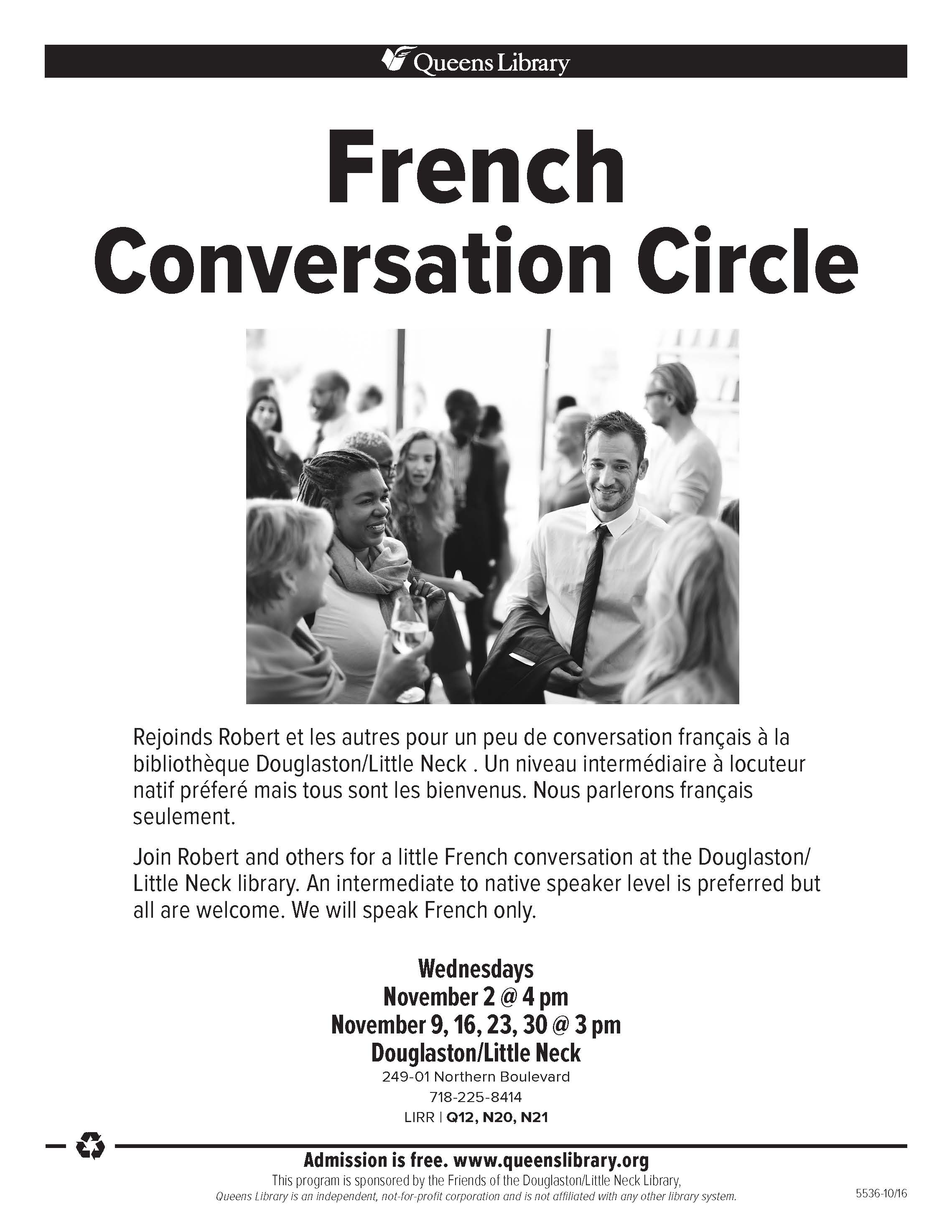 French Conversation Circle @ Douglaston/Little Neck