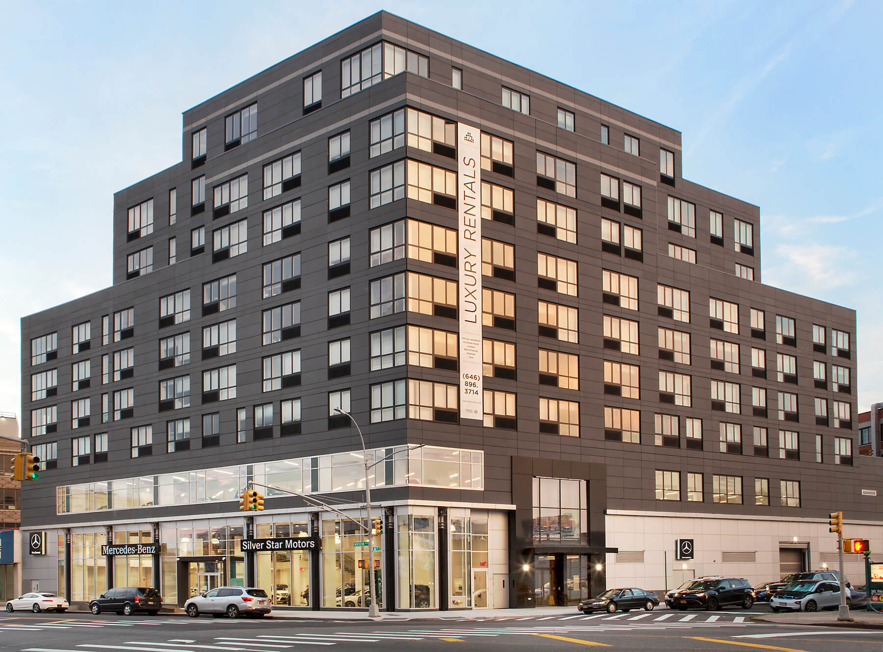 Long Island Citys newest building features luxury cars and luxury apartment units  QNScom