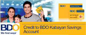 BDO-Kabayan-Savings-Account