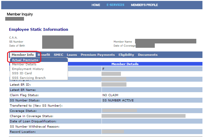 Check-SSS-Contributions-Online-Inquiry