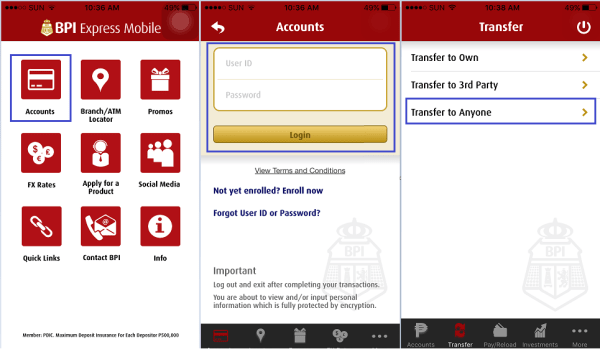 Wire Money App | How To Transfer Money To Anyone With Bpi Mobile Banking Send Money