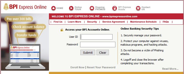 BPI login 2