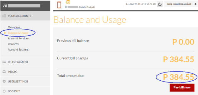 sun-postpaid-plan-balance