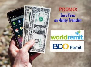 Worldremit offers Zero Fee for first money transfer to any BDO Account