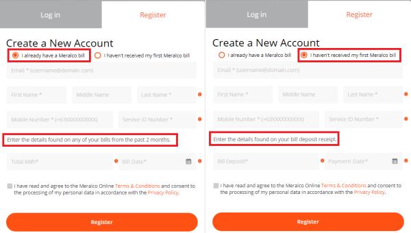 meralco-online-registration