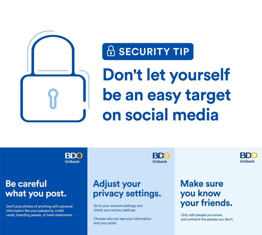 bdo security tips