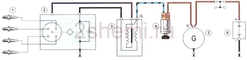 Fordulatszámmérő kapcsolási rajz