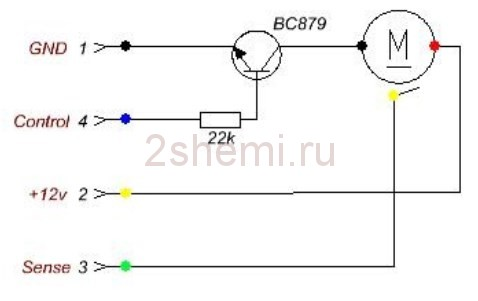 Connection of a cooler 12v 3 wires  How to connect the fan