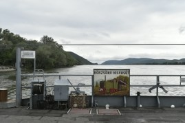 Ferry across the Danube
