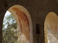 Inside a frescoed cave