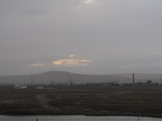 South of Baku are oil fields and supporting industry.
