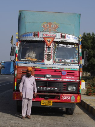 Typical truck, this one quite newly decorated.