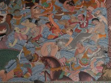 Krabi Mural (right of main door - spot the different theme)