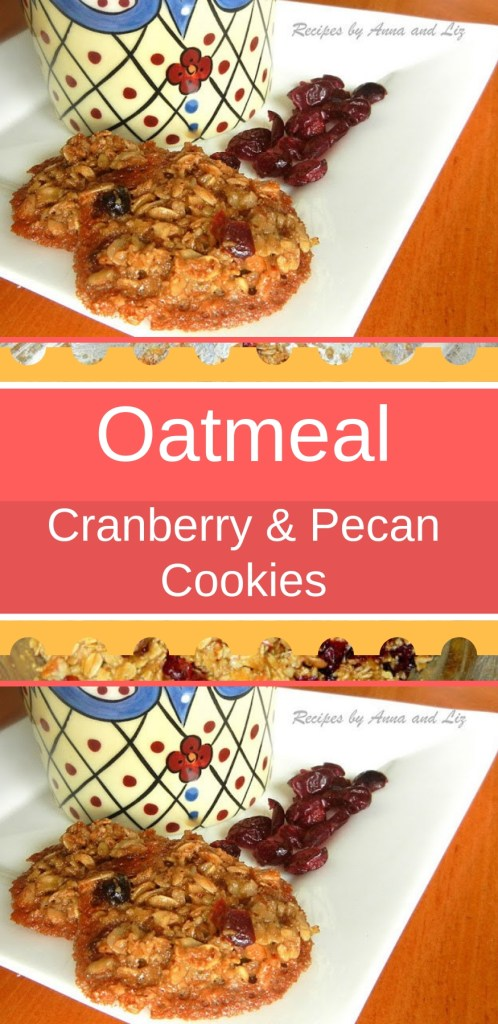 Oatmeal Cranberry and Pecan Cookies, by 2sistersrecipes.com