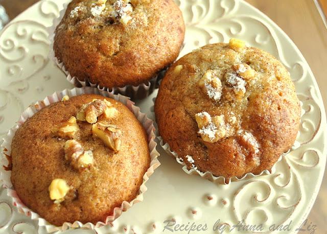 Low-Fat Banana Walnut Muffins