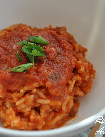 Easy Risotto with Marinara Sauce by 2sistersrecipes.com