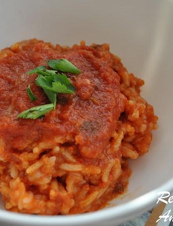 Easy Risotto with Marinara Sauce by 2sistersrecipes.com