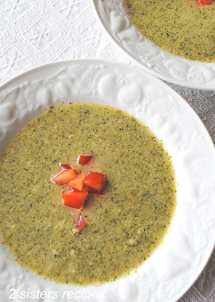 Creamy Broccoli Soup without the cream by 2sistersrecipes.com