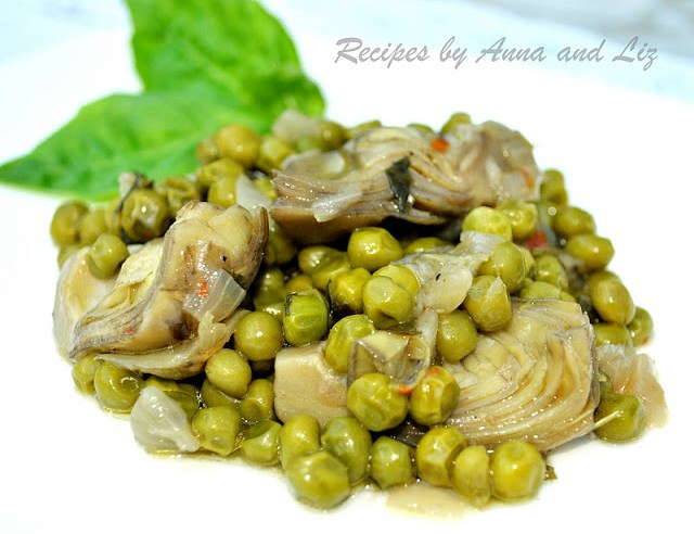 Artichoke Hearts Sauteed with Baby Peas, Onions and Capers ...