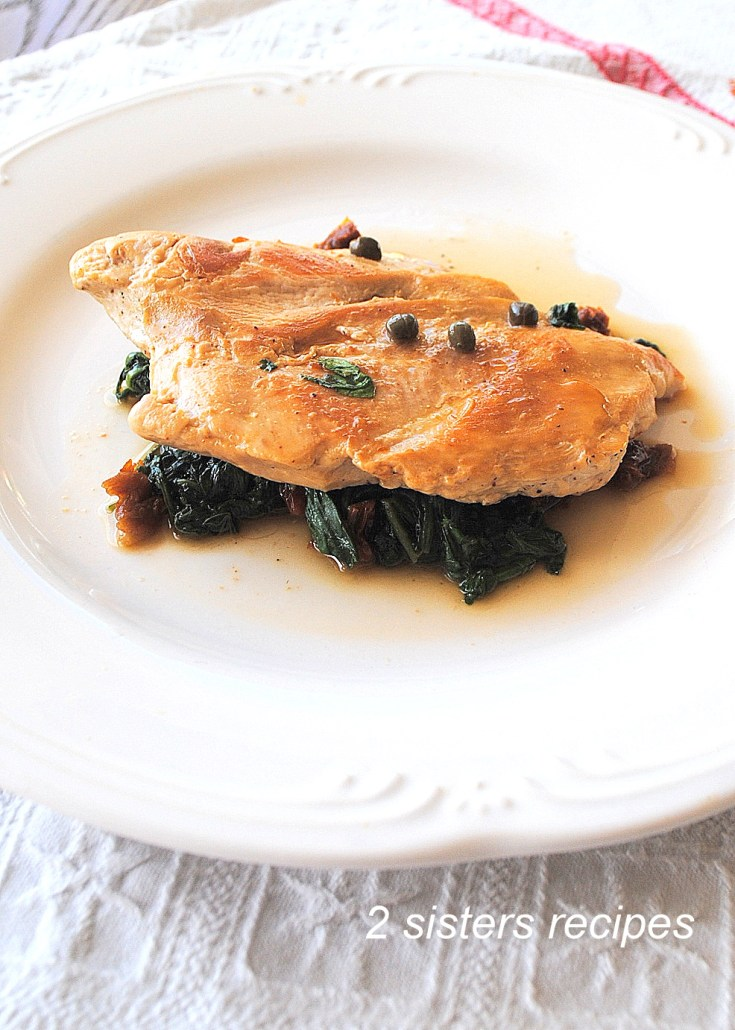 Chicken with Arugula and Wine