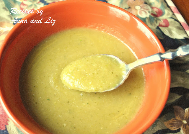 Cream of Zucchini Soup- without Cream! by 2sistersrecipes.com