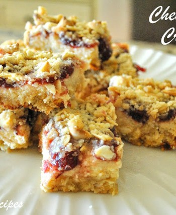 Cheesecake Cranberry Bars by 2sistersrecipes.com