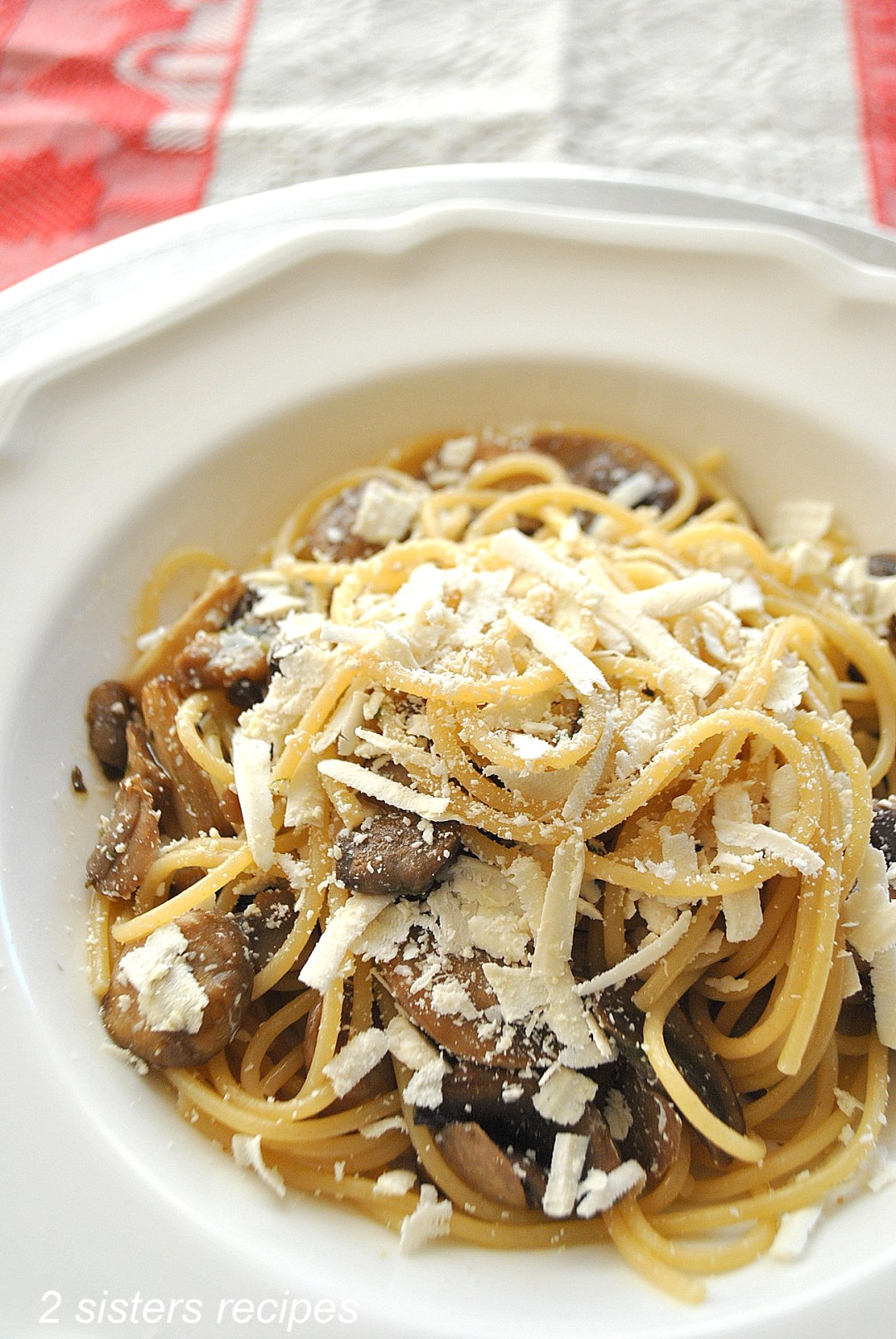 Wild Mushrooms with Cognac and Truffle Oil by 2sistersrecipes..com