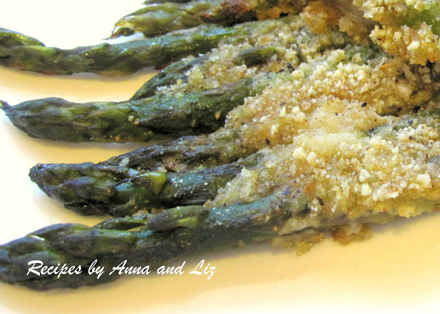 Mom's Roasted Low-Calorie Asparagus by 2sistersrecipes.com