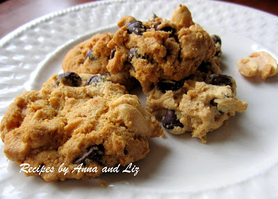 Peanut Butter and Chocolate Chip Cookies - Without Flour and NO Butter!!