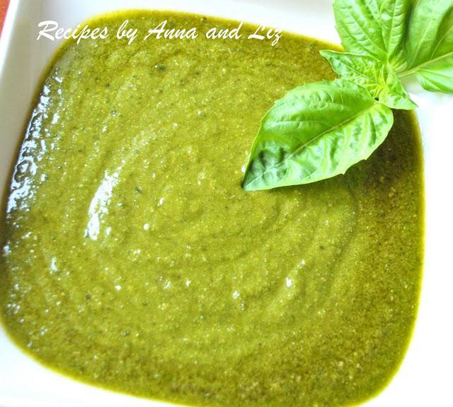 Fresh Basil Pesto Sauce by 2sistersrecipes.com