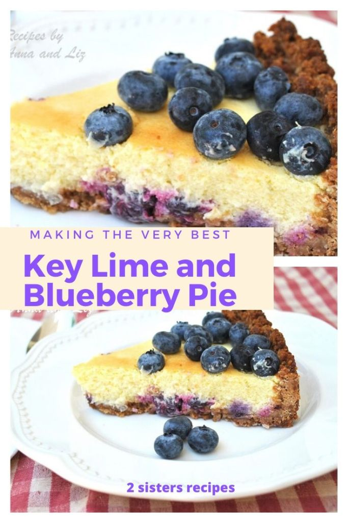 Key Lime and Blueberry Pie by 2sistersrecipes.com