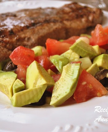 Chunky Avocado Salad and Avocado Salsa by 2sistersrecipes.com