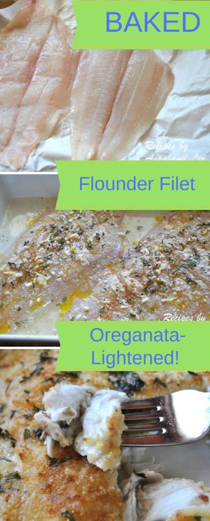 Baked Flounder Filet Oreganata -Lightened!! by 2sistersrecipes.com