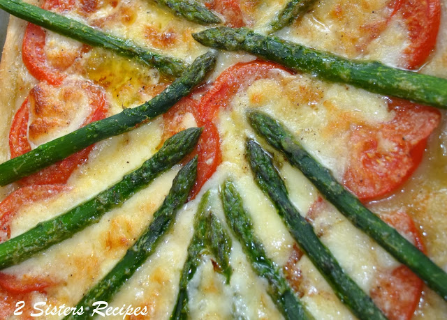 Fresh Asparagus, Tomato and Cheese Pizza