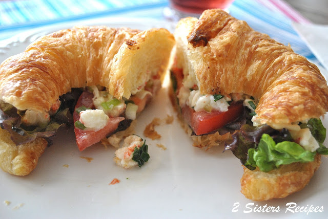 Shrimp Salad with Cajun Mayo on Toasted Croissant