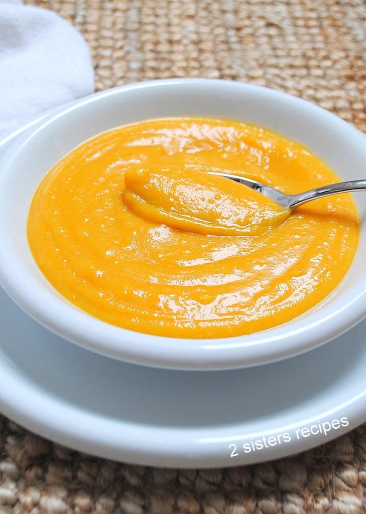 Creamy Butternut Squash Potato Soup by 2sistersrecipes.com